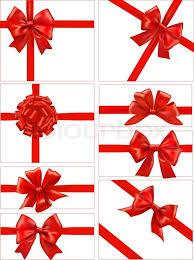 big present bow big set of gift bows with ribbons vector stock vector