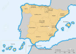 Map Of Spain by Map Of Spain With Islands Autonomous Communities Escale 1