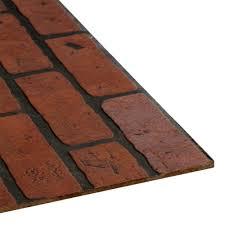 4 ft x 8 ft decorative gaslight brick panel 103735 the home depot