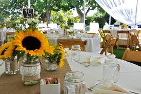sunflower centerpieces sunflower table decorations for wedding wedding corners