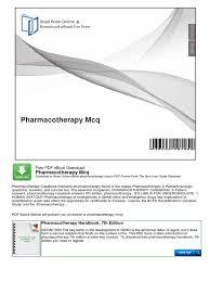 pharmacotherapy mcqs geriatrics pharmacy