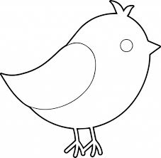 simple birds drawing cute bird coloring wecoloringpage