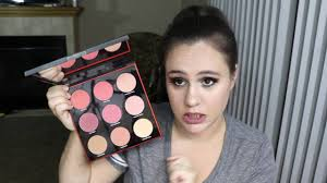 smashbox light it up blush palette smashbox light it up cheek palette holiday collection 2016 youtube