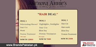 haircut deals lahore allenora annie s signature salon offering hair deals