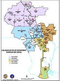 Map Los Angeles Ca by Lapd Divisional Map Los Angeles Police Department Wilshire Division
