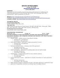 sample resume of net developer w net resume w sample resume for 2