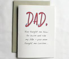 fathers day card you taught me how to