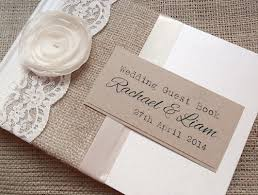 vintage guest book gorgeous rustic style hessian burlap wedding guest book with
