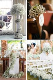 Wedding Aisle Ideas 23 Baby U0027s Breath Wedding Decor Ideas Classy And Romantic