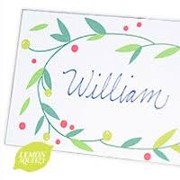 free printable treat your christmas guests to modern place cards
