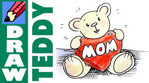 mothers day stuff how to draw teddy for mothers day