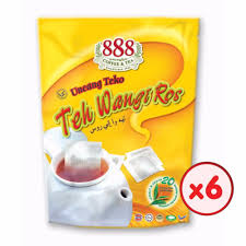X Teh 888 teh wangi ros pot bag 2g x 20 sachets bundle of 6