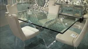 Mirror Dining Table by Silven Rectangle Dining Table By Bassett Mirror Company Youtube