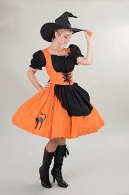 witch halloween costume orange u0026 black dress cute modest witch