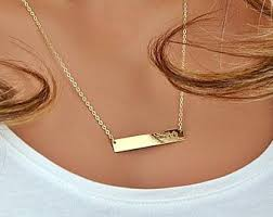 Custom Necklace Name The 25 Best Nameplate Necklace Ideas On Pinterest Gold