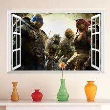 online buy wholesale teenage wall murals from china teenage wall window teenage mutant ninja turtles series cartoon sticker 3d wall decals kids boys room bedroom decoration