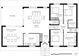 plan de maison de plain pied avec 4 chambres plan maison plain pied avec sous sol 130 ma plan de maison plain