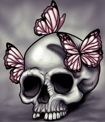 how to draw a skull and butterflies step by step skulls pop