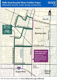 Cupertino Ca Map Wolfe Road Project Detour Maps Santa Clara Valley Water District