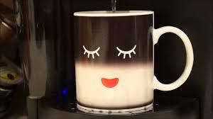 Heated Coffee Mug Heat Colour Change Mug Cup Youtube