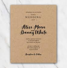 kraft paper wedding invitations kraftpaper wedding invitation in word diy 100 free