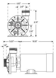 waterway spa pumps part no 3420620 0z 1 5 hp side discharge