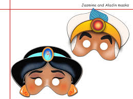 unique 2 jasmine and aladin printable masks best choice birthday