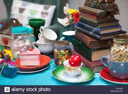 Tea Party Table by Table Set For Mad Hatter U0027s Tea Party Stock Photo Royalty Free