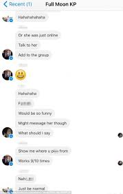 Text Messages Show Horror Inside - melbourne s eleanor henry accidentally added to x rated facebook