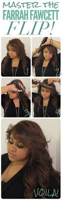farrah fawcett hair cut instructions farrah hair master the farrah fawcett flip hair pinterest