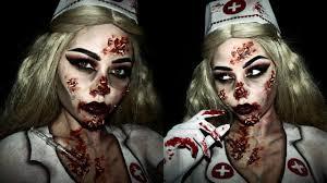 glam zombie nurse halloween makeup sfx youtube