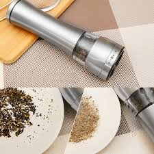 electric salt pepper mill grinder with light electric pepper mill salt and pepper spice grinder kitchen tools