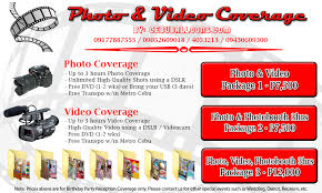 Wedding Videography Prices Photo U0026 Video Services Cebu Balloons And Party Supplies