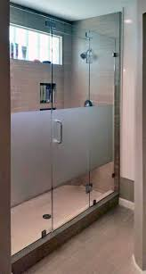 frosted glass shower door frameless glass shower enclosures and doors gallery u2014 shower doors of austin
