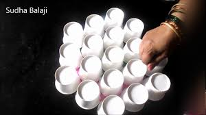 innovative rangoli ideas tools paper cups cotton buds