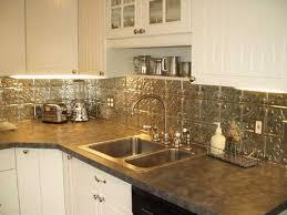 faux tin kitchen backsplash plain ideas metal kitchen backsplash astonishing faux tin