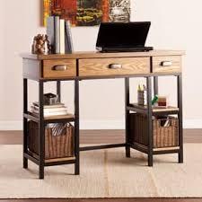 Furniture Unpolished Oak Wood Computer Desk Placed On Light Gray by Wood Desks U0026 Computer Tables For Less Overstock Com