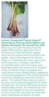 harvest celebrated as an unconventional guide to the garden in