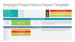 stoplight report template project status report slides template design slidesalad