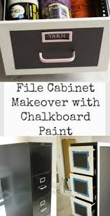 Chalk Paint On Metal Filing Cabinet Beach Cottage Study Makeover For Good Life Wednesday Chalkboard