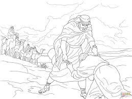esau forgives jacob coloring page free printable coloring pages