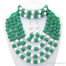 african crystal beads necklace images 2018 2015 latest design fashion purple green nigerian african jpeg