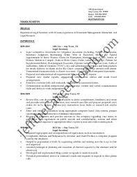 legal secretary resume template
