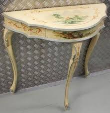 Half Moon Accent Table Hand Painted Console Tables Foter