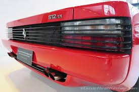 ferrari tail lights 1995 ferrari 512 tr rosso corsa classic throttle shop