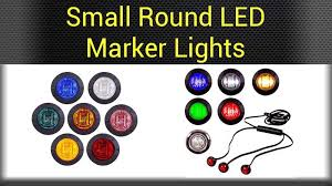 small round led lights marker clearance lights big rig chrome shop semi truck chrome shop