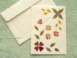 leaf greeting cards wholesale greeting cards with pressed flowers