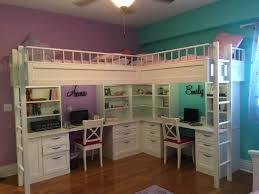 Kid Room Charming Bedroom Custom Made Dual Loft Beds With Desks Kids Room