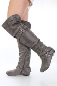 womens boots grey leather