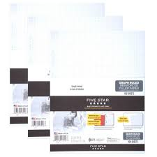 amazon com five star filler paper graph ruled paper 100 sheets